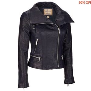 Wilson's Leather jacket, black, size XS.